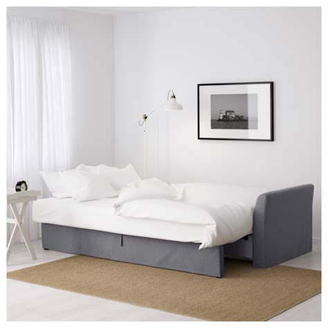 three seat sofa bed holmsund three seat sofa bed nordvalla medium grey ikea