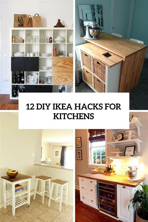 diy kitchen furniture 12 functional and smart diy ikea hacks for kitchens shelterness