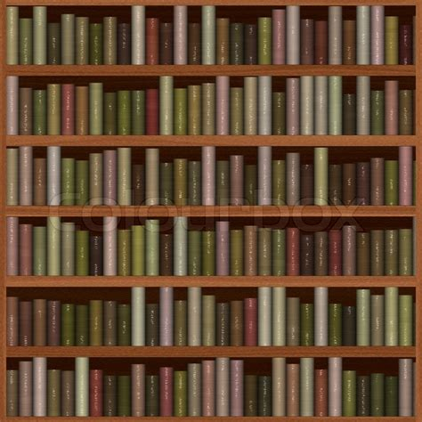 picture of bookshelf with books wooden bookshelf texture with books stock photo