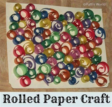 paper strips craft rolled paper strips crafts putti s world