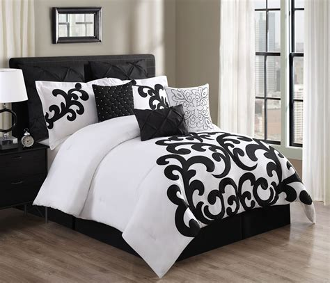 black bedding sets 9 empress 100 cotton black white comforter set