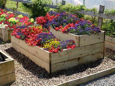 raised flower garden split level raised flower garden bed