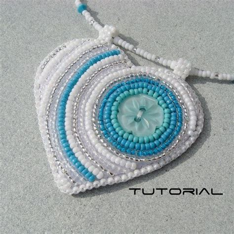 embroidery beading patterns bead embroidery tutorial button pendant beading