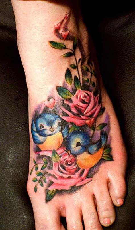 51 glamorized foot flower tattoos and designs