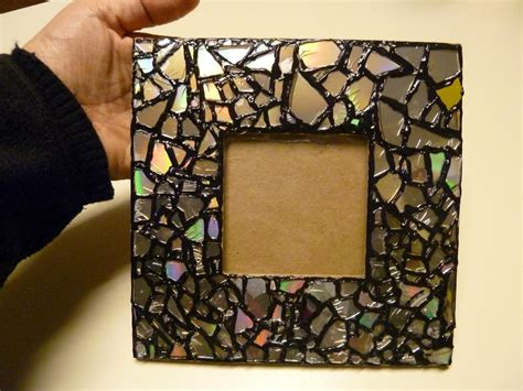 frame craft for diy recycled cd mosaic photo frame diy craft projects