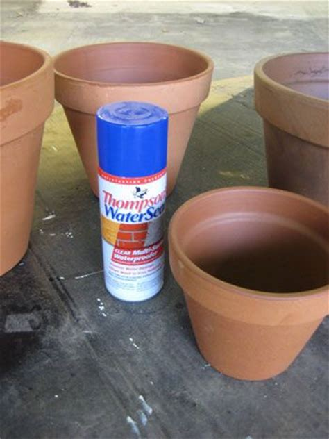 spray painting terracotta pots thompson s water seal from lowe s which isor sealing terra