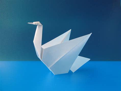 origami swan pdf cigno swan tecnica origami con foglio unico quadrato