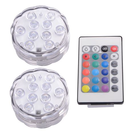 remote battery operated lights ir remote smd5050 rgb submersible led lights aaa