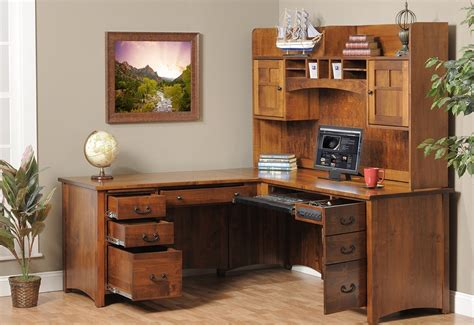 corner desk with shelves and drawers brown corner wood desk with shelves and drawers the best