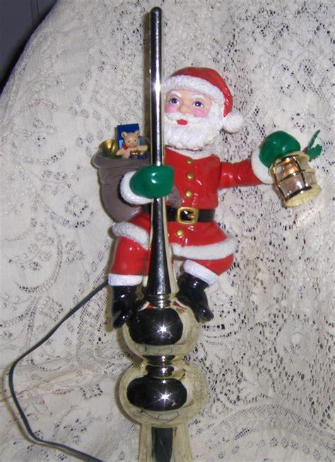 santa tree topper lighted mr animated santa lighted tree topper 1994