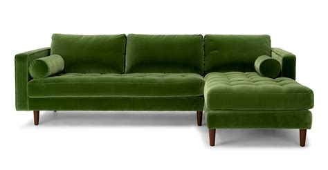 green sectional sofa sven grass green right sectional sofa sectionals