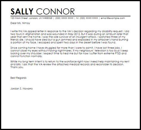 va appeal letter appeal letters livecareer