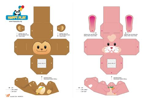 animal paper crafts templates animal finger puppets template new calendar template site