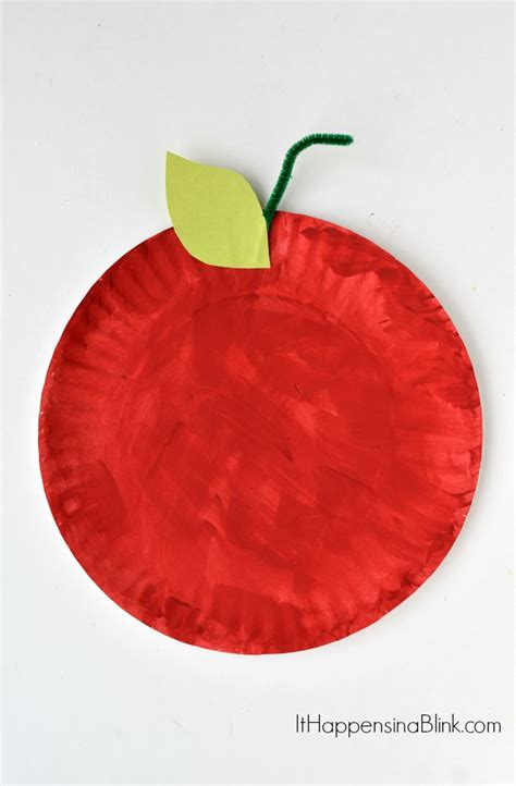 paper apple crafts paper plate apple craft for