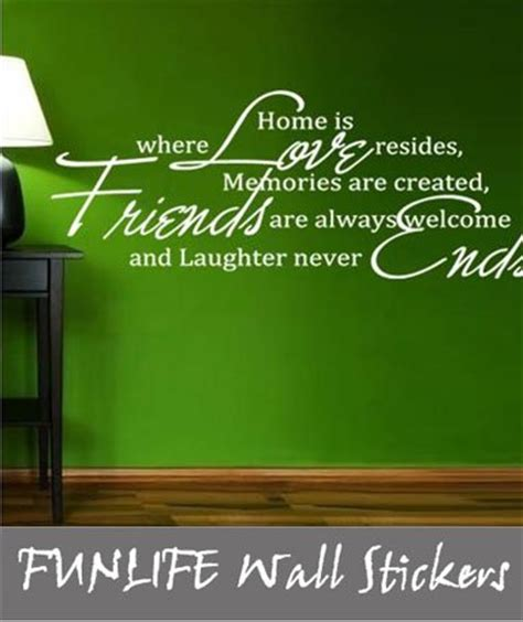 Funlife Wall Stickers where home is quotes like success