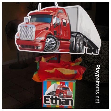 truck centerpieces semi truck birthday centerpiece playpatterns net