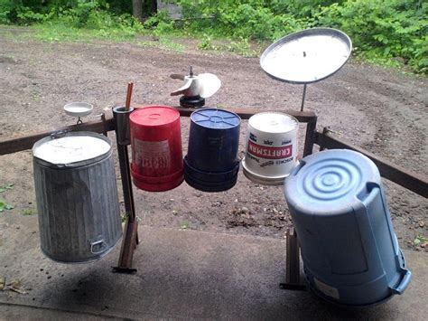 home made drum set search playscape ideas