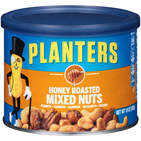planters mixed nuts upc 029000016668 planters mixed nuts honey roasted 10