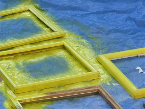spray painting frames how to make a headboard with picture frames how tos diy