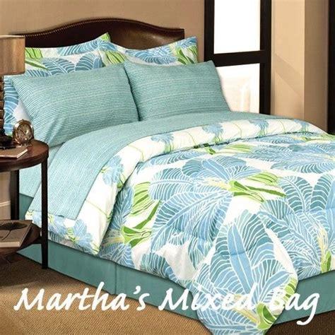 palm tree comforter set tropical blue lime palm tree leaves king sizes