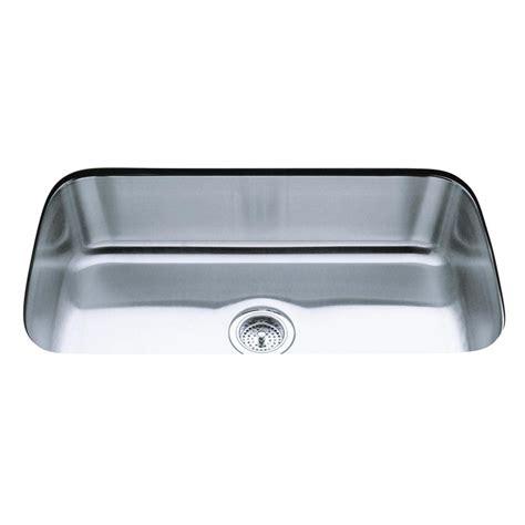 stainless steel undermount single bowl kitchen sink shop kohler undertone stainless steel single basin