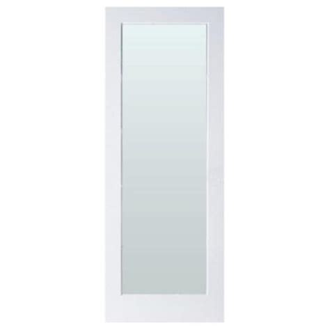 interior glass doors home depot masonite 32 in x 80 in sandblast lite solid primed mdf interior door slab with