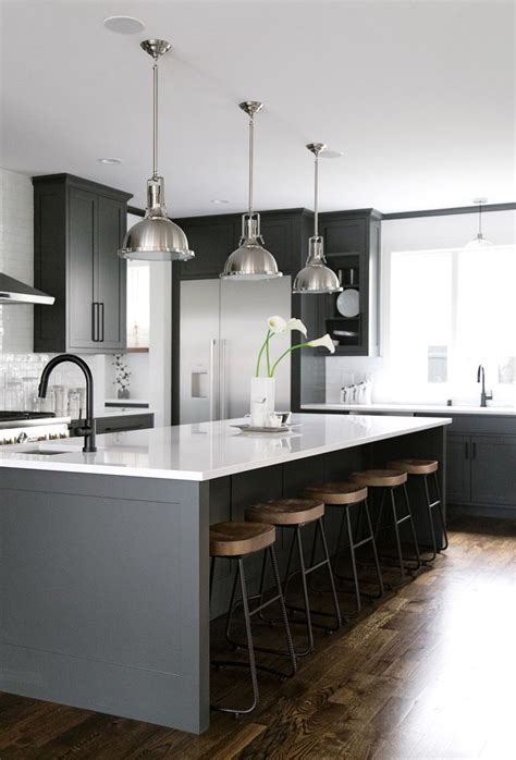 black and white kitchens best 25 grey kitchen island ideas on gray