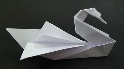 origami swan origami swan intermediate how to make it