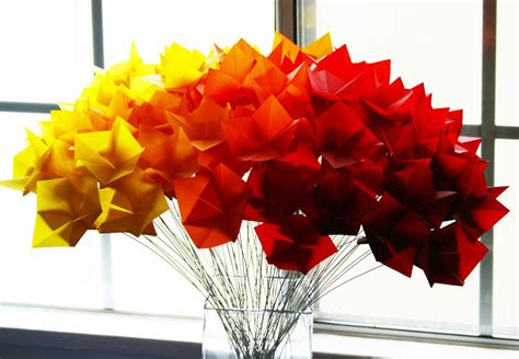 origami wedding centerpieces fall wedding flowers bouquets and centerpieces origami