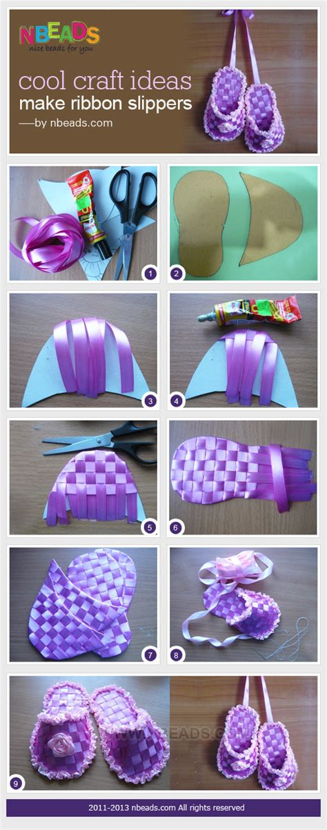cool craft for cool craft ideas make ribbon slippers nbeads