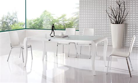 white modern dining room sets white dining table at the galleria