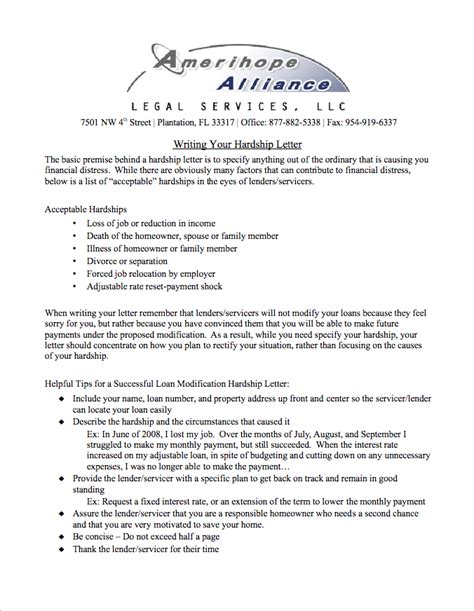 Modification Letter by Hardship Letter Loan Modification Crna Cover Letter