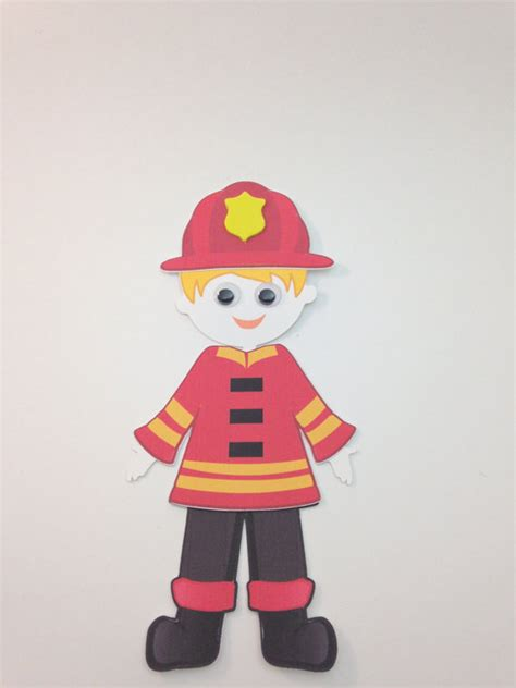 firefighter crafts for firefighter craft kit for scrapbooking or decoration