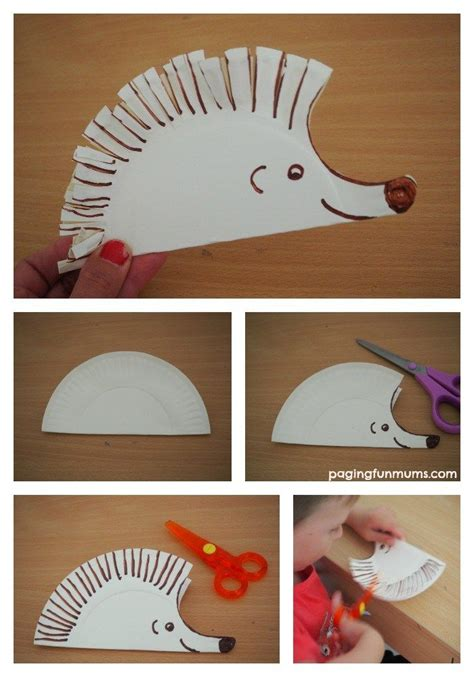 hedgehog paper plate craft best 25 preschool cutting practice ideas on