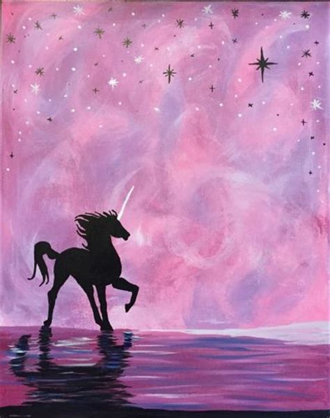 paint nite unicorn 25 best ideas about unicorn painting on