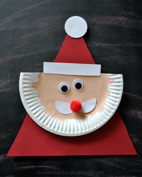 santa paper plate craft paper plate santa claus i crafty things