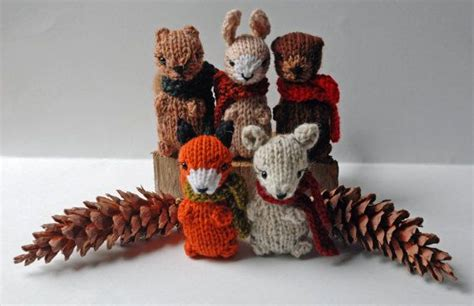 knitted woodland animals small knitted woodland animals autumn in the forest