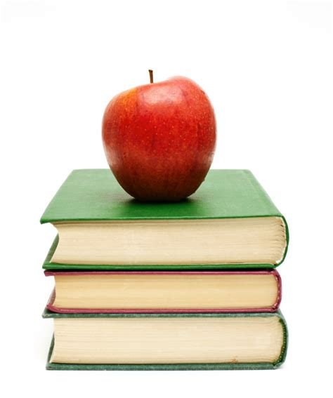Books With Apple On Top Clipart Best