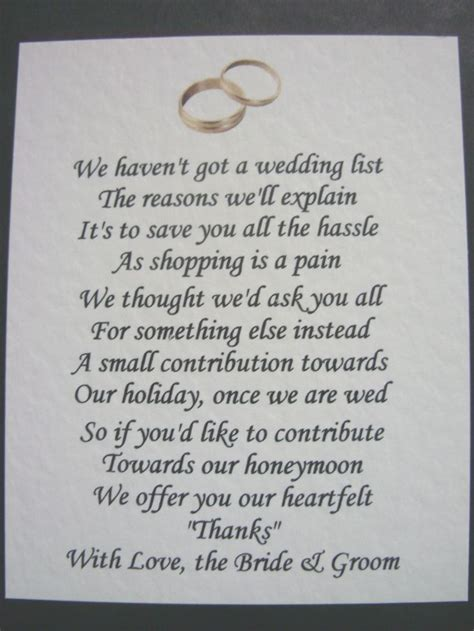 gift poem ideas 25 best ideas about wedding gift poem on
