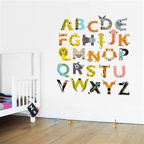 jam wall stickers alphabet wall stickers by the jam tart