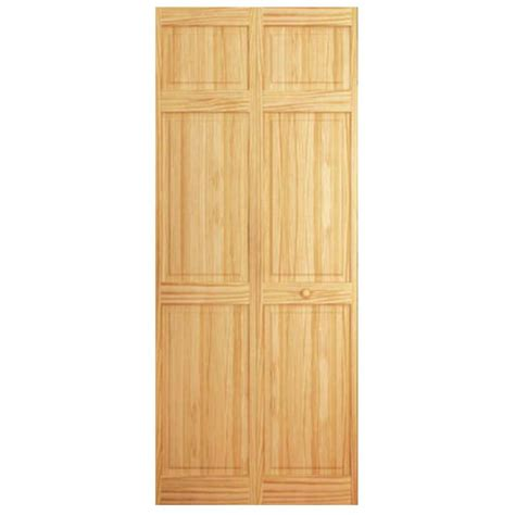 solid wood closet doors bay 30 in x 84 in 6 panel solid wood pine
