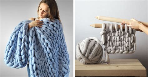big knitting wool chunky knit blankets for giants that also work for humans