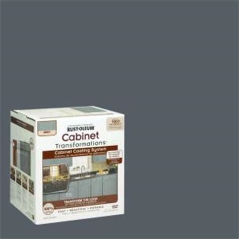 home depot cabinet paint kit rust oleum transformations 1 qt gray cabinet small kit