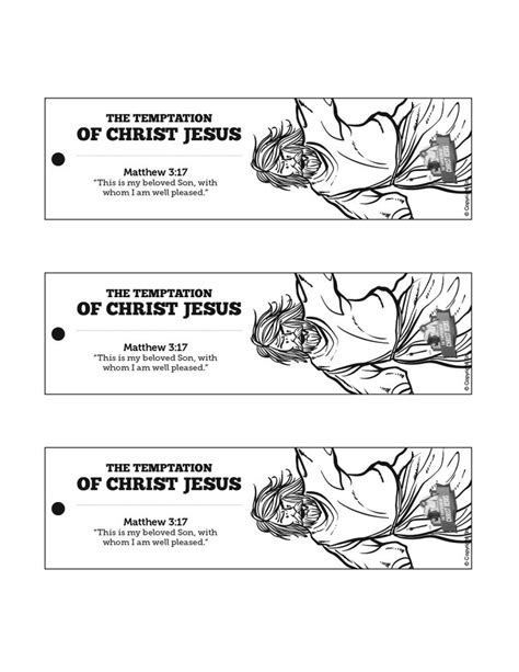 temptation of jesus crafts for matthew 4 jesus tempted bible bookmarks jesus tempted