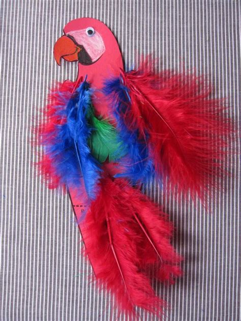 how to make parrot with craft paper a parrot fit for a pirate easy parrot craft for talk like