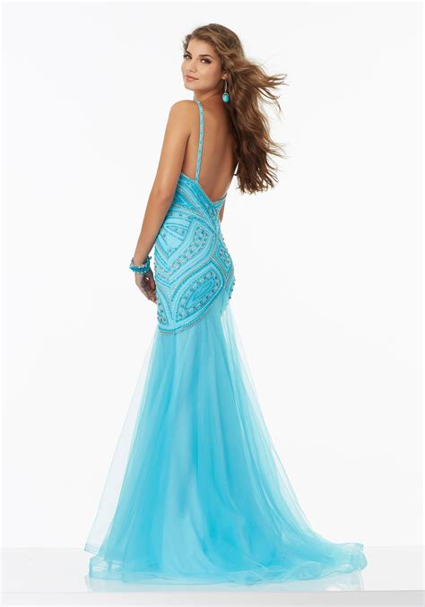 fully beaded prom dresses fitted prom dress with fully beaded bodice and soft tulle