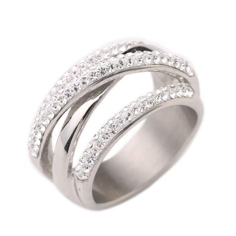 steel jewelry 316l stainless steel wedding rings for engagement