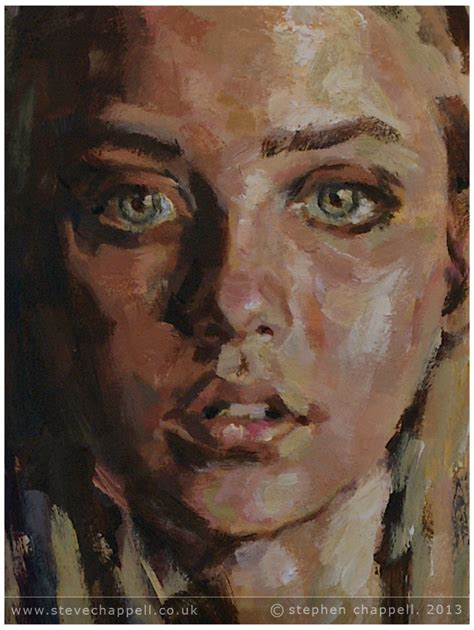 acrylic painting portrait stephen chappell paintings 187 painting with veil