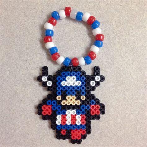 perler bead bracelet captain america perler bead kandi bracelet