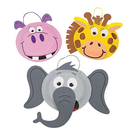animal craft for paper plate zoo animal craft kit trading